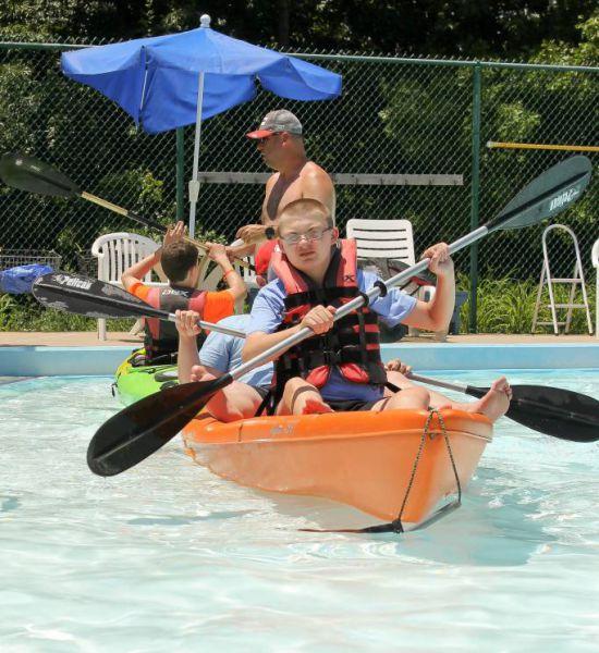 Joshua Center kayaking in the Pool (3)