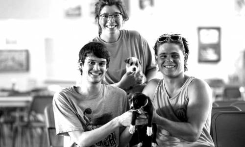 2018-Camp-Opportunity-Rotary-Staff-Puppies-1-blackwhite